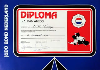 Aikido first dan diploma by JBN